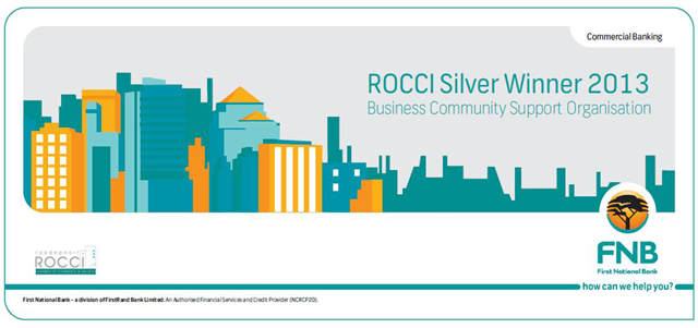 ROCCI/FNB Silver Award for Business Community Support Organisation (2013)