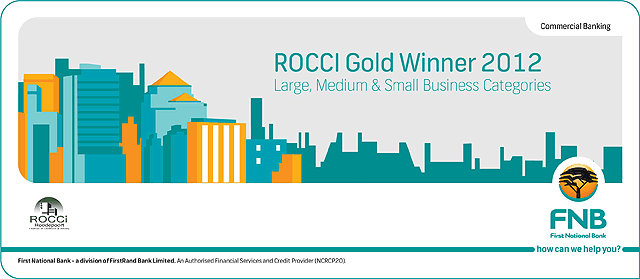 ROCCI/FNB Gold Award for Large Medium & Small Business Categories (2012)